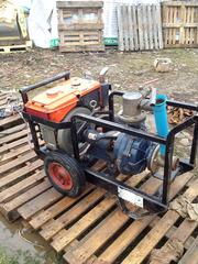 Буровой насос TAKI 65-33/2,  2-х ступенчатый,  дизельный двигатель KUBOT